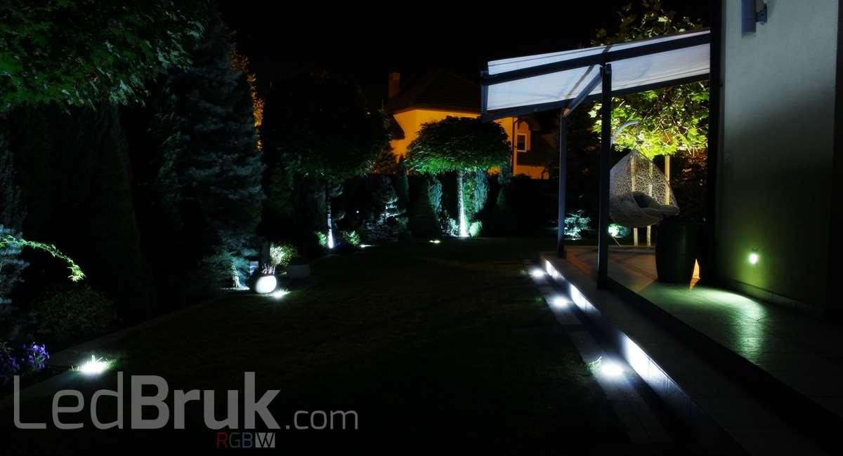 świecąca kostka brukowa LedBruk oprawa najazdowa LED 24V RGBW