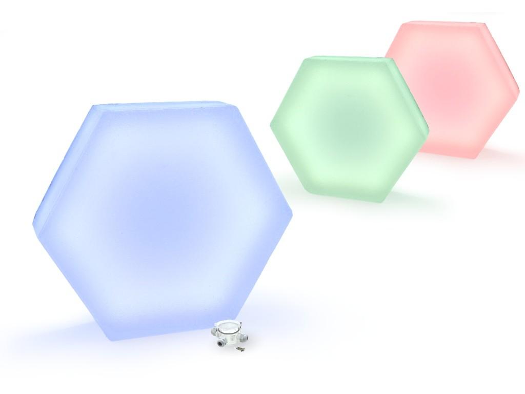 świecąca płyta brukowa chodnikowa Heksagon LedBruk LED 24V