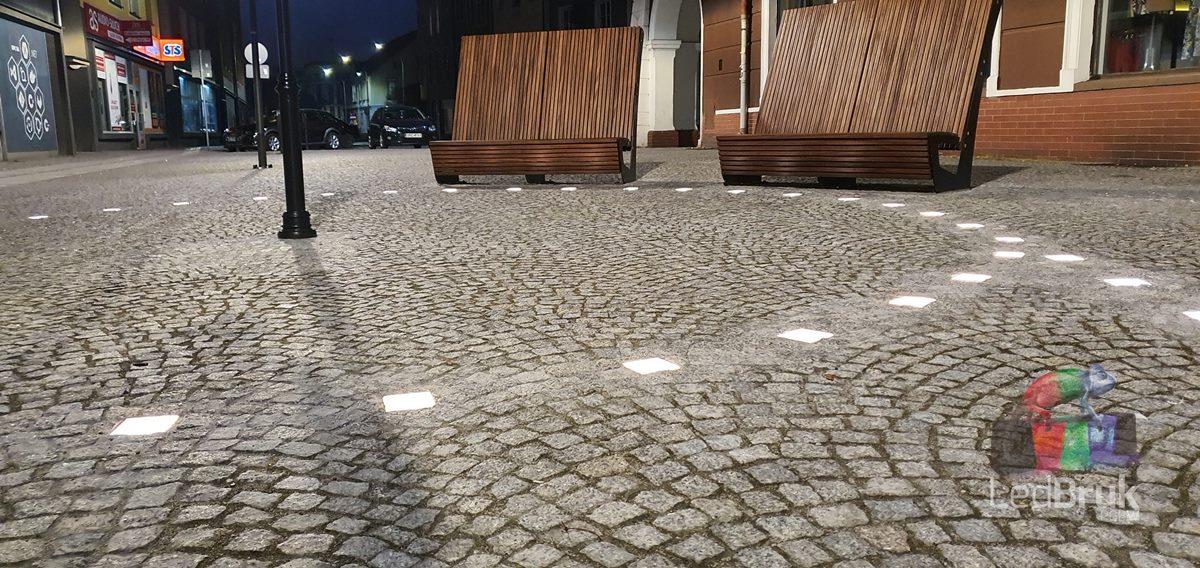 świecąca kostka brukowa LedBruk 24V LED Racibórz Rynek