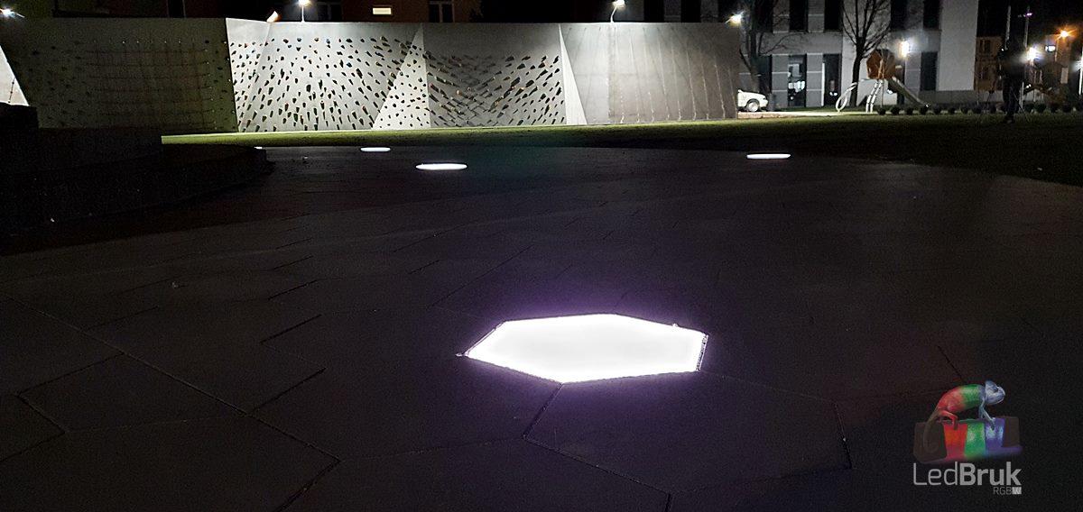 świecąca płyta brukowa chodnikowa LedBruk LED 24V Adamów