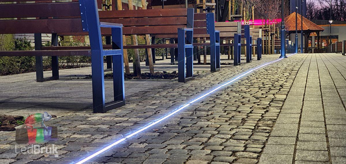 oprawa najazdowa liniowa LED 24V LedBruk Line IP67 Starogard Gdański